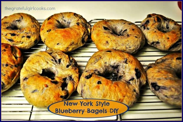 It's easy to make chewy, delicious, authentic New York Style Blueberry Bagels from scratch! Grab the cream cheese and enjoy this classic treat!