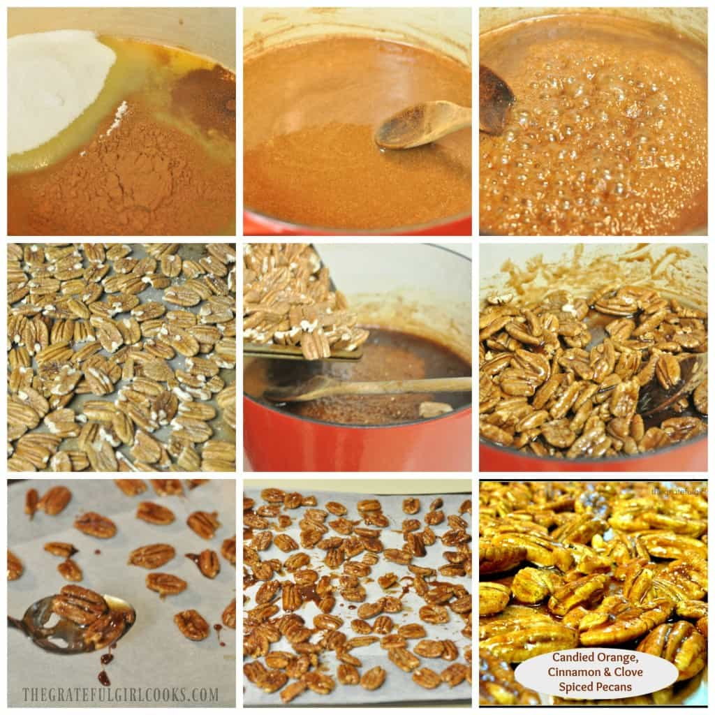 Candied Orange, Cinnamon & Clove Spiced Pecans / The Grateful Girl Cooks!