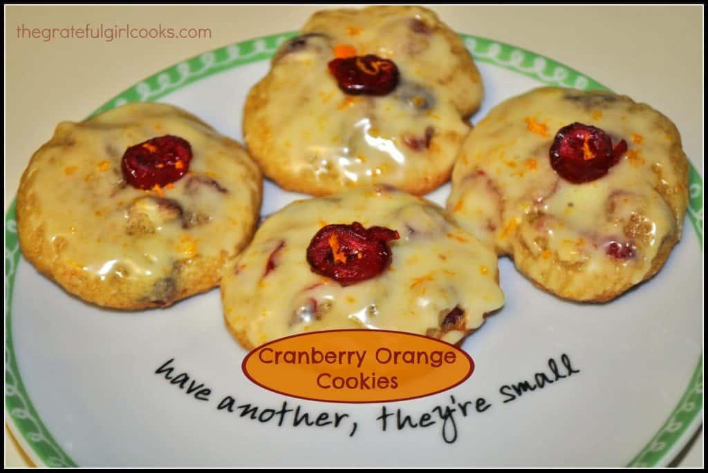 Cranberry Orange Cookies / The Grateful Girl Cooks!