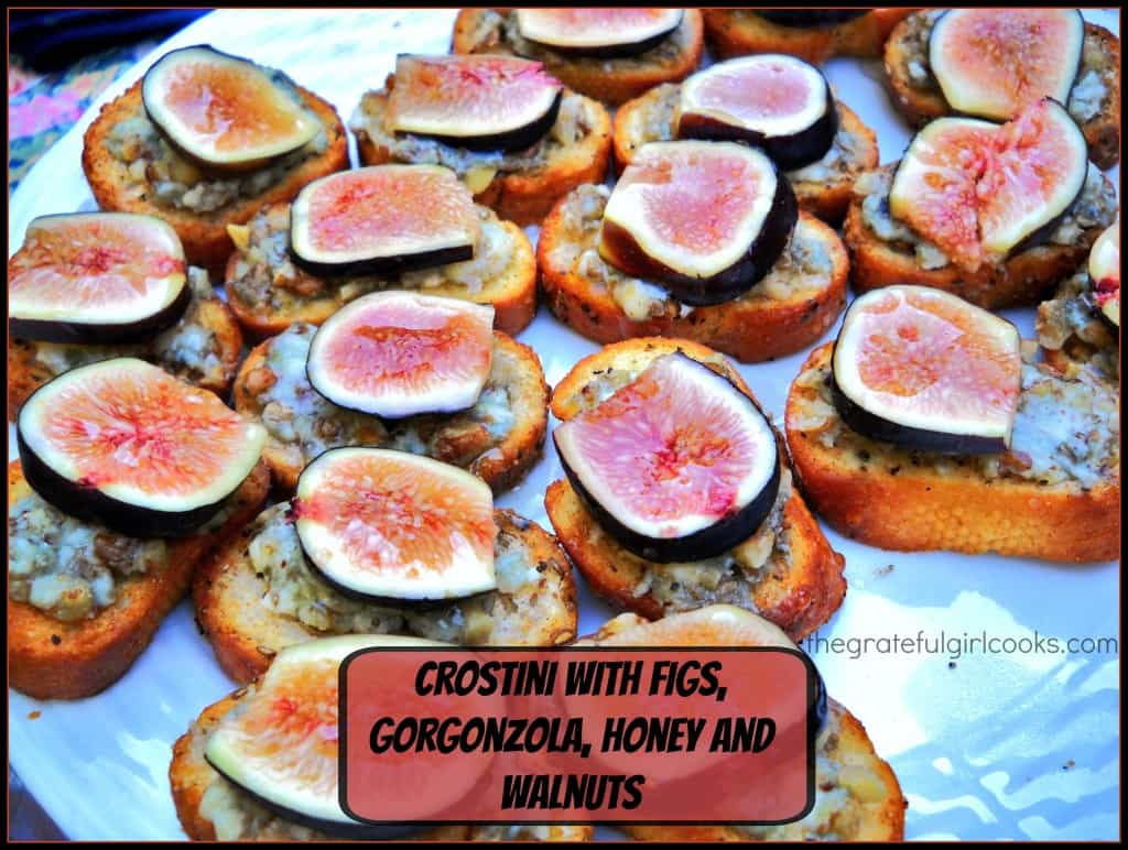 tomato crostini apricot crostini fig and gorgonzola crostini with ...