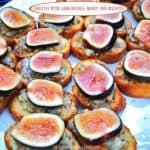 Crostini with Figs, Gorgonzola, Honey and Walnuts