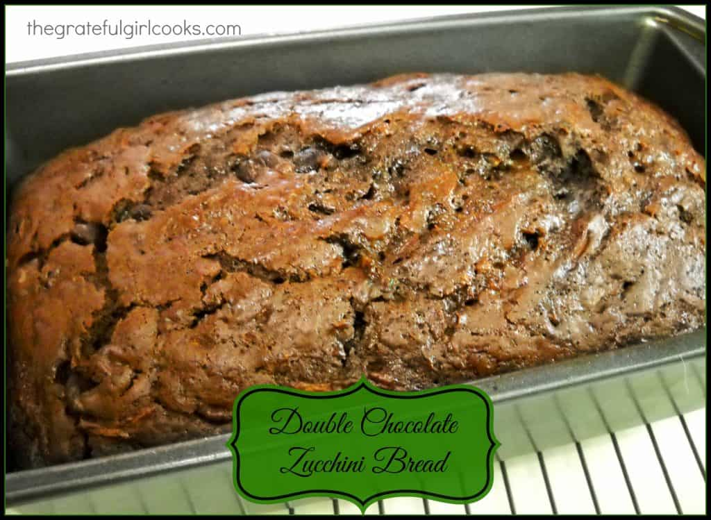 Double Chocolate Zucchini Bread / The Grateful Girl Cooks!