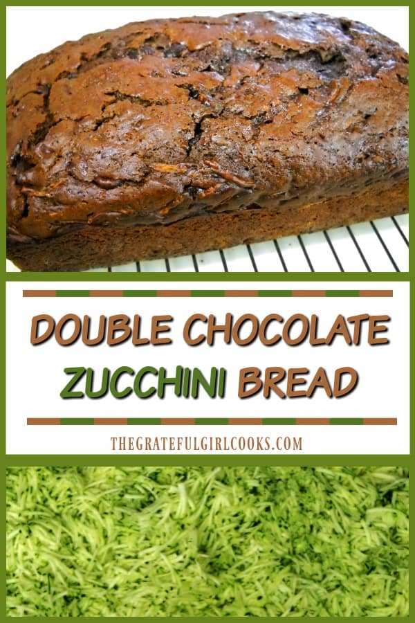 Have extra zucchini? Double Chocolate Zucchini Bread is a delicious chocolate loaf with a secret ingredient your kids will never know is in there...zucchini!