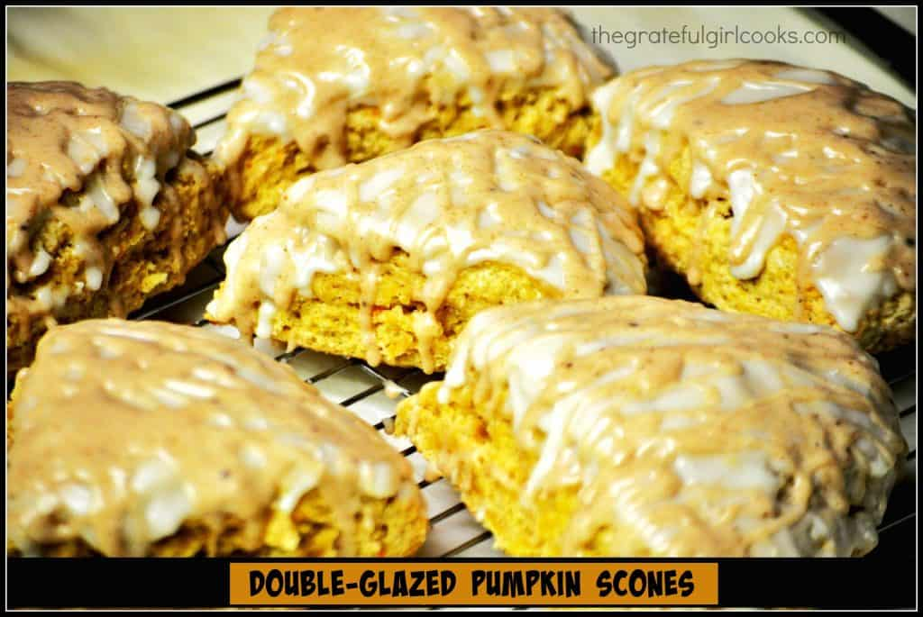 Double-Glazed Pumpkin Scones / The Grateful Girl Cooks!