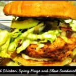 Fried Chicken, Spicy Mayo and Slaw Sandwich