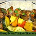 Honey Lime Chicken Skewers