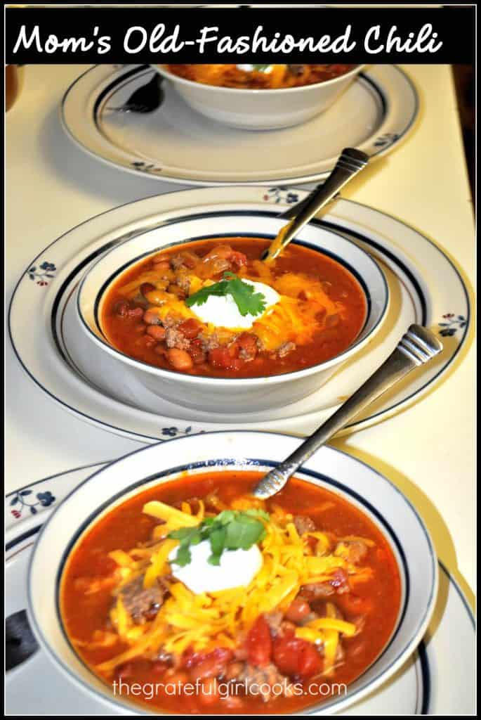 Mom's Old-Fashioned Chili / the Grateful Girl Cooks!