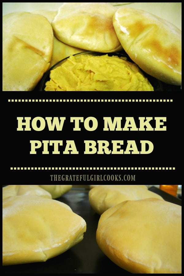 It's EASY making pita bread from scratch! You will enjoy eating and using this traditional puffy pocket bread, for appetizers or sandwiches!