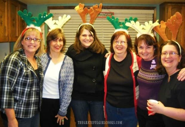 Some of my friends at the Christmas cookie exchange.
