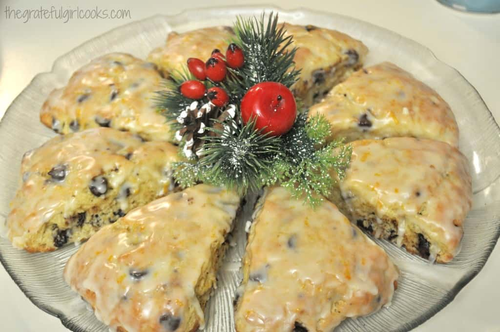 Chocolate Chip Orange Scones / The Grateful Girl Cooks!