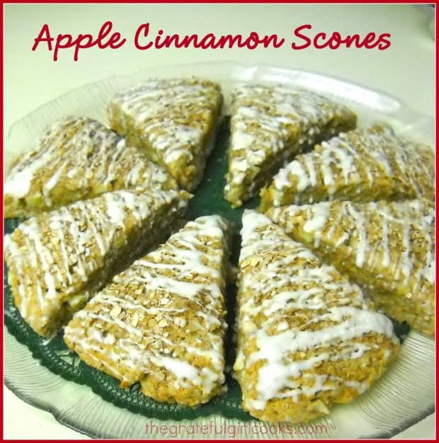 Apple Cinnamon Scones / The Grateful Girl Cooks!