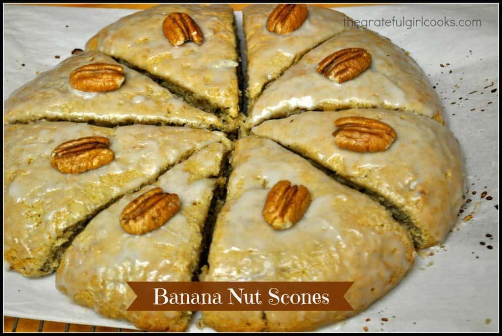 Banana Nut Scones / The Grateful Girl Cooks!