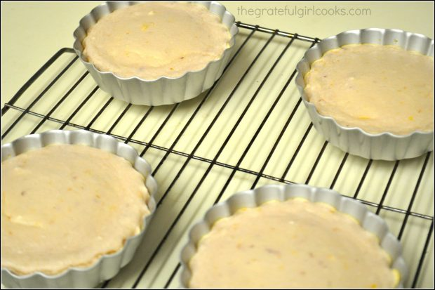 Bruleed Blood Orange Mini-Cheesecakes with Citrus Sauce / The Grateful Girl Cooks!
