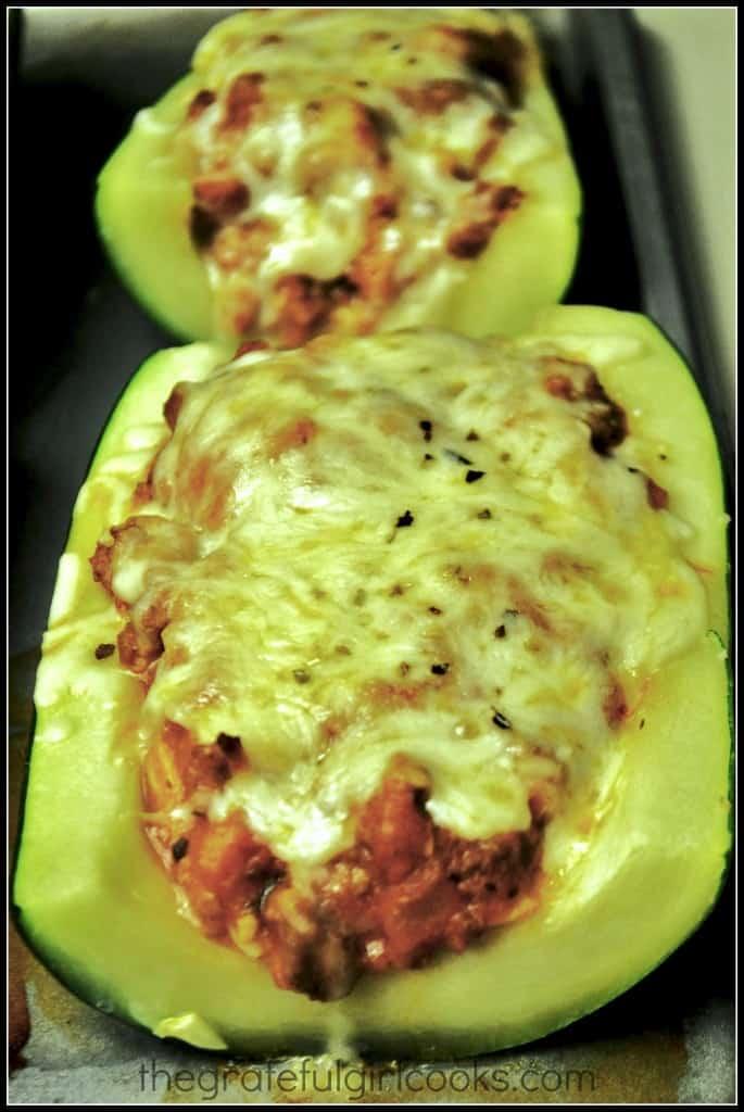 Italian Stuffed Zucchini / The Grateful Girl Cooks!