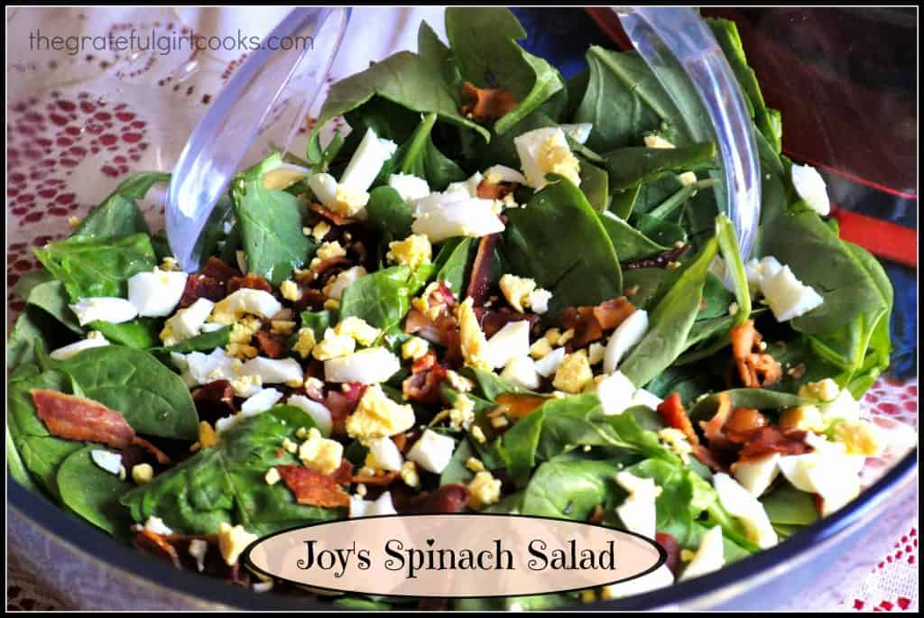 Joy's Spinach Salad / The Grateful Girl Cooks!