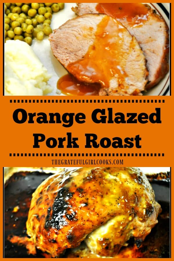 You'll really enjoy this delicious Orange Glazed Pork Roast, with dry rub spices, baked until tender, coated and served with a sweet citrus glaze.