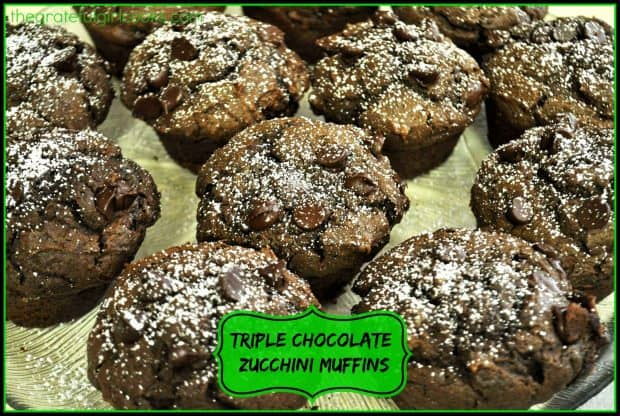 These triple chocolate zucchini muffins have a secret ingredient (shhh... it's a vegetable!) and are an absolutely delicious treat your family will love!