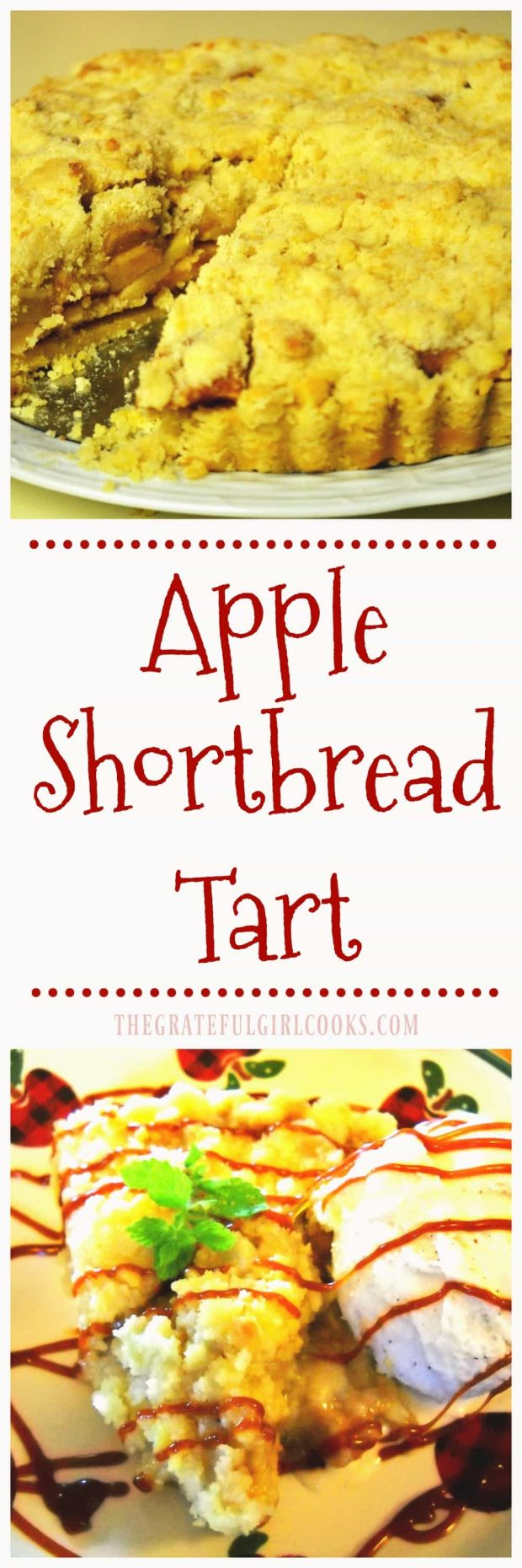 Long pin for Apple Shortbread Tart / The Grateful Girl Cooks!