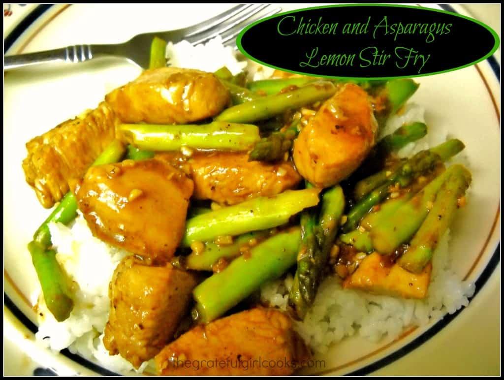 Chicken and Asparagus Lemon Stir Fry / The Grateful Girl Cooks!