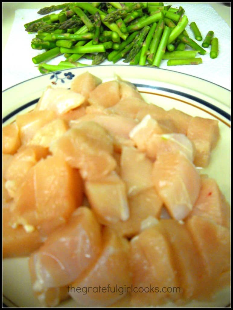 Chicken and Asparagus Lemon Stir Fry / The Grateful Girl Cooks!