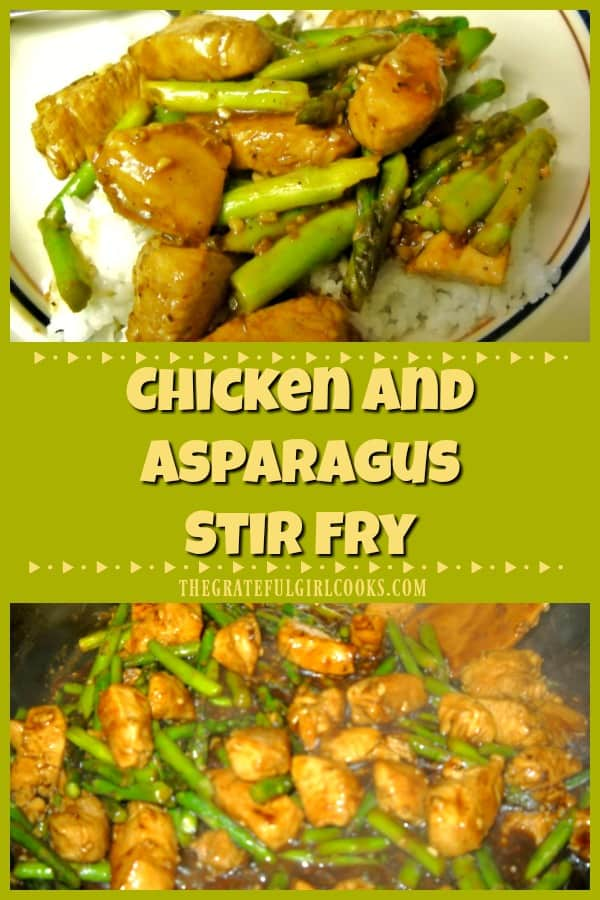Chicken Asparagus Stir Fry is a delicious dish featuring boneless chicken breasts and fresh asparagus, cooked in an Asian-inspired lemon sauce.