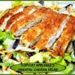 Copycat Applebee's Oriental Chicken Salad