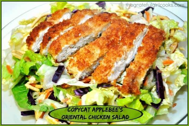 Copycat Applebee's Oriental Chicken Salad / The Grateful Girl Cooks!