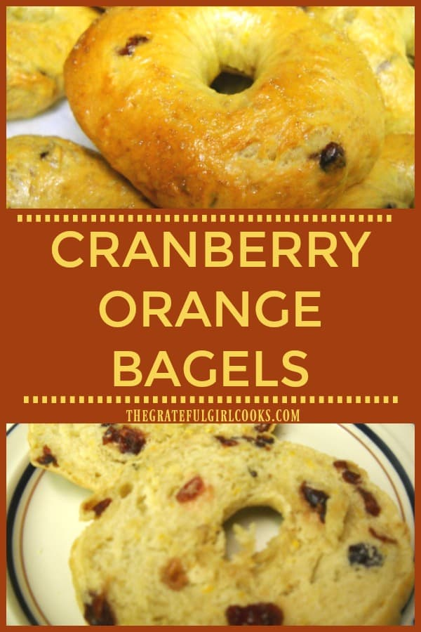 Ready for chewy, homemade New York style cranberry orange bagels, bursting with the flavor of cranberries and orange zest? Make your own bagels from scratch!