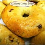 Cranberry Orange Bagels