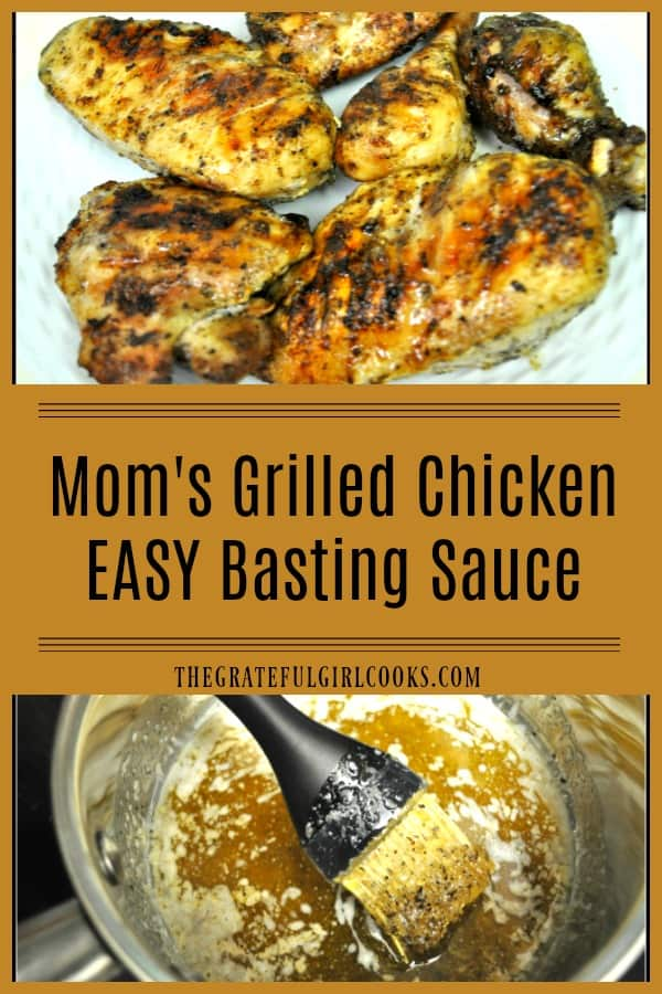 You're gonna LOVE this EASY grilled chicken basting sauce (only a few ingredients)! We've used the same recipe for over 50 years to grill fantastic chicken.