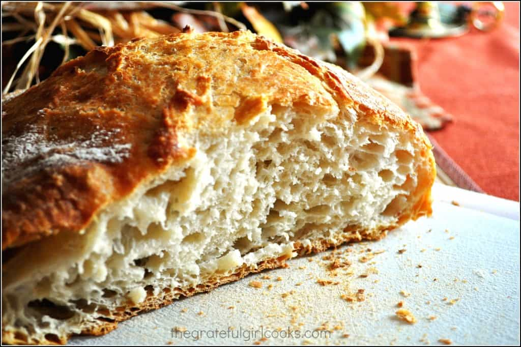 No-Knead Bread / The Grateful Girl Cooks!