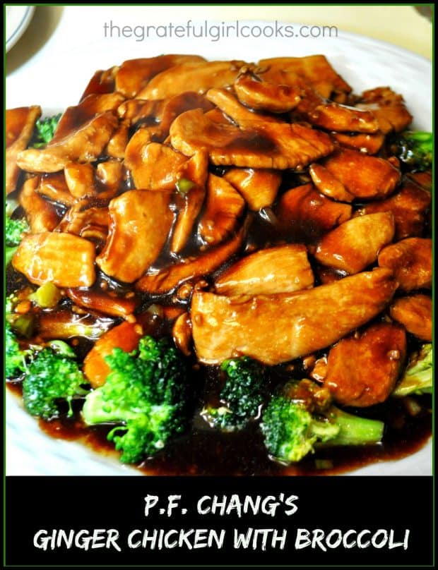 You'll love PF Chang's Ginger Chicken with Broccoli (a copycat recipe), with chicken breasts, broccoli, and an amazing Asian inspired stir fry sauce!