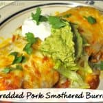 Shredded Pork Smothered Burritos