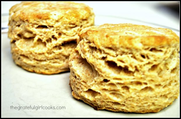 Lots of buttery layers in these sky high biscuits!