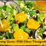Spring Greens with Citrus Vinaigrette