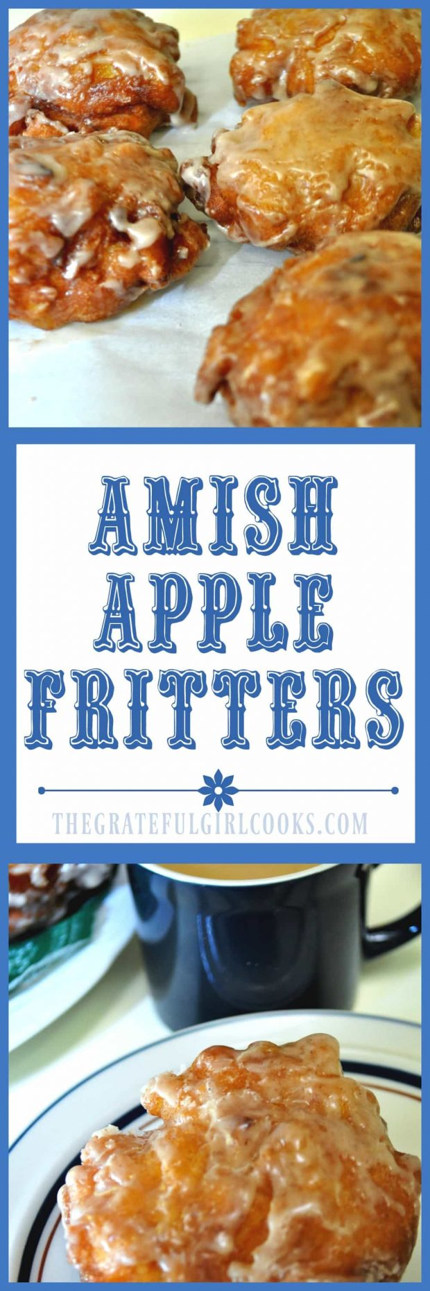 Long pin for Amish Apple Fritters / The Grateful Girl Cooks!