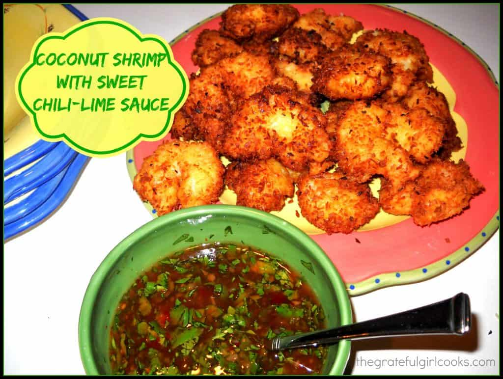 Coconut Shrimp with Sweet Chile-Lime Sauce / The Grateful Girl Cooks!