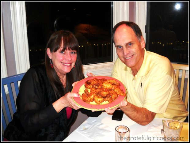 Our friends Shari and Richard, with the coconut shrimp.