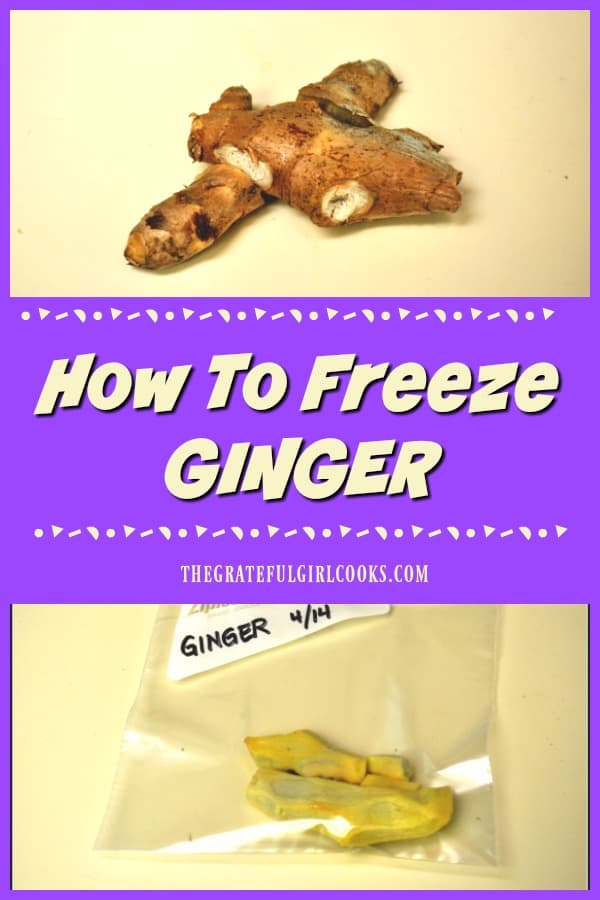 Don't throw away fresh ginger if you only need a small piece for a recipe! Here's a quick tip showing how to freeze ginger to keep it handy.