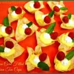 Lemon Curd Filled Won Ton Cups