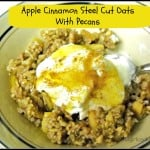 Apple Cinnamon Steel Cut Oats With Pecans