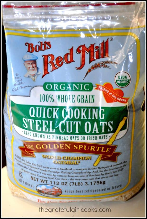 These are the steel cut oats I used for this recipe.