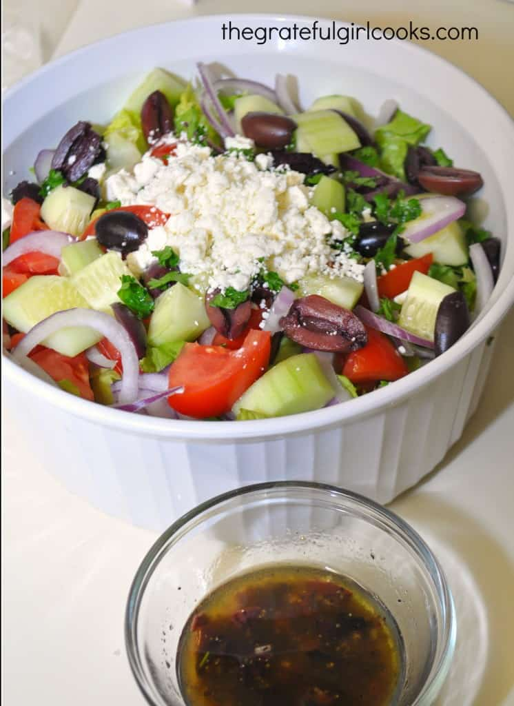 Greek Salad / The Grateful Girl Cooks!