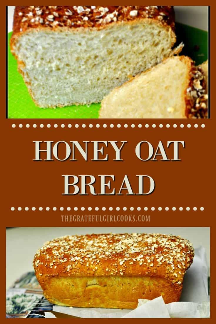 Long pin for honey oat bread