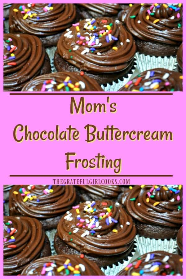 It's easy to make a delicious, thick chocolate buttercream frosting from scratch that will add a touch of YUM to cakes, brownies, and cupcakes!