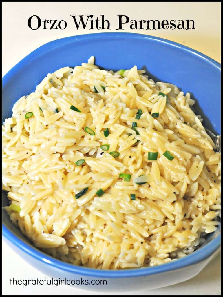 Orzo With Parmesan / The Grateful Girl Cooks!
