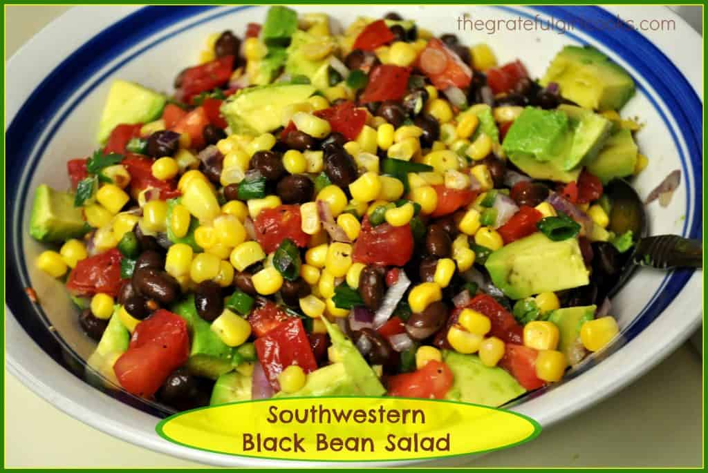Southwestern Black Bean Salad / The Grateful Girl Cooks!