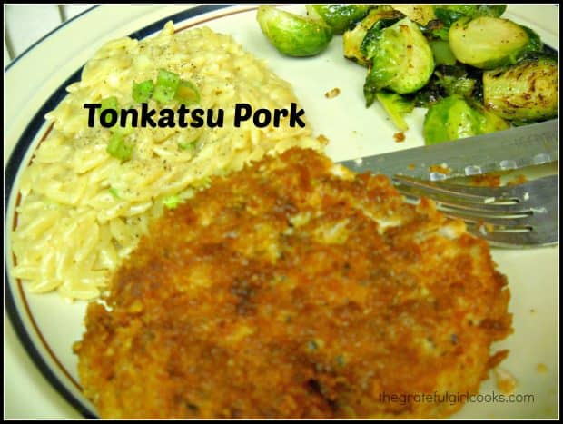 Tonkatsu pork originated in Japan, and is a simple dish to make, with lightly seasoned, panko crumb crusted pork cutlets, pan-fried until crispy.