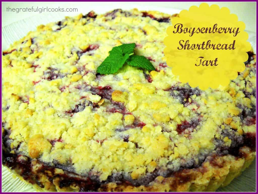Boysenberry Shortbread Tart / The Grateful Girl Cooks!