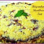 Boysenberry Shortbread Tart